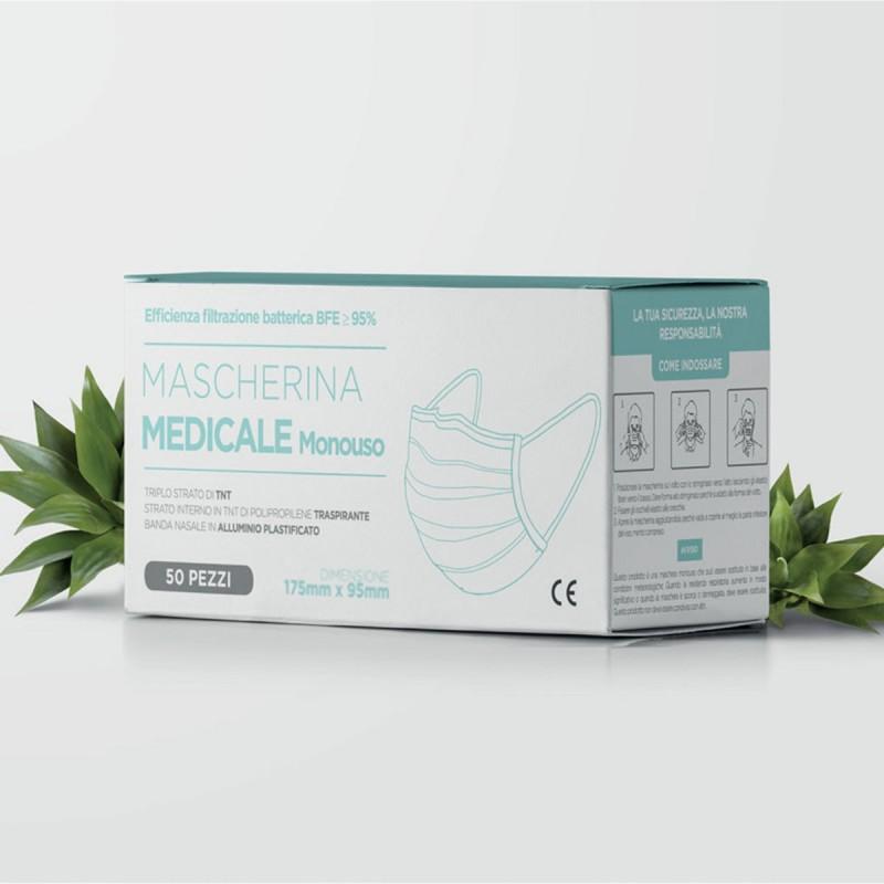 Mascherine Monouso Dispositivo Medico Pz. 50