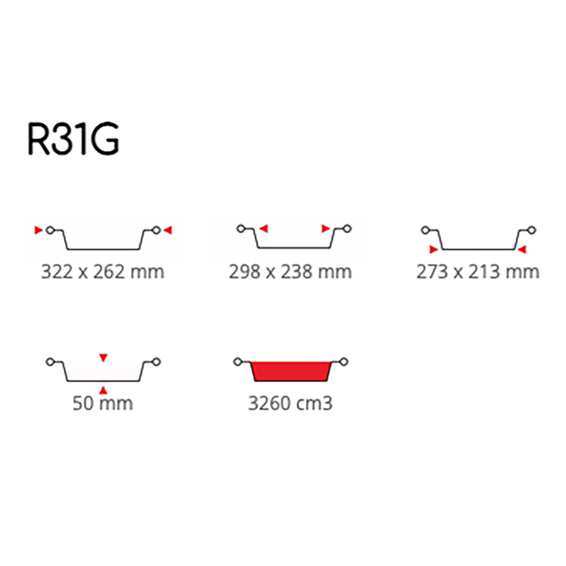 Contenitori in Alluminio 8 Porzioni R31G Pz. 50