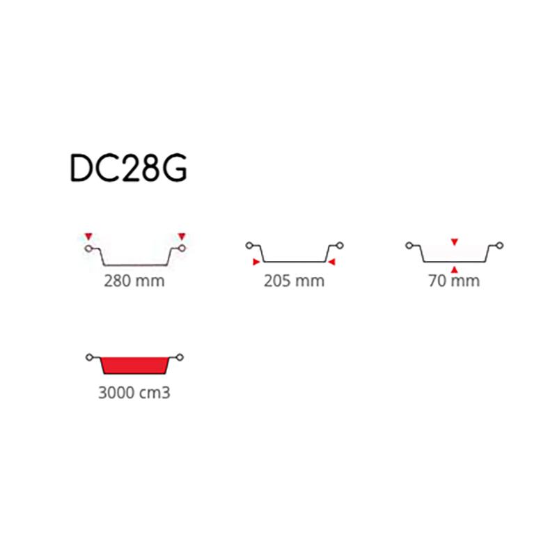 Tortiere in Alluminio Conica Diametro 28 cm ( DC28G )