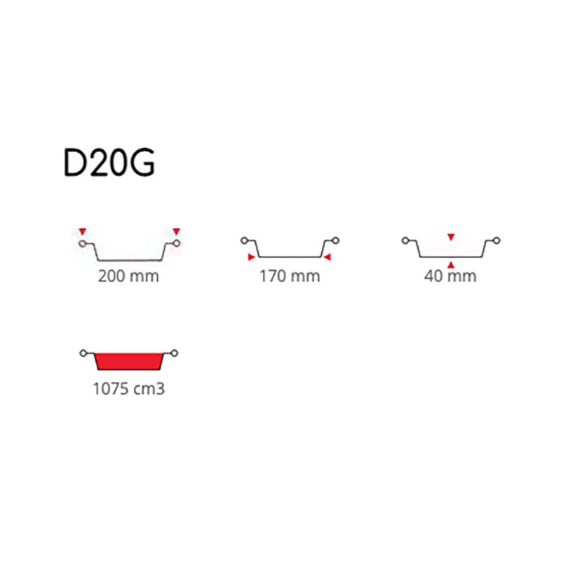 Tortiere in Alluminio Diametro 20 cm ( D20G )