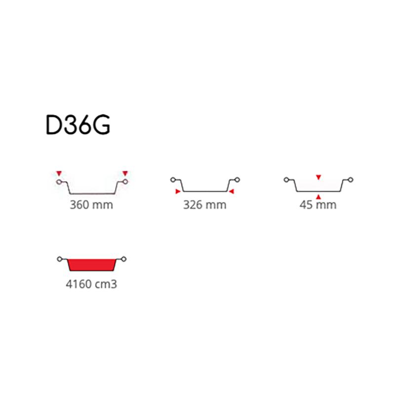Tortiere in Alluminio Diametro 36 cm ( D36G )
