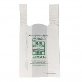 Shoppers Compostabili Farmacia cm. 23+12X40 gr.5  Pz 1000