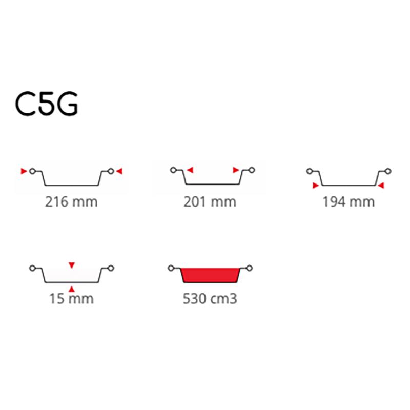 Contital Contenitori Tondi Alluminio C5G Pz 100 P1505CO