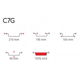Contital Contenitori Tondi Alluminio C7G Pz 100 P1506CO
