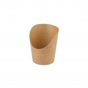 Vaschetta Cono Kraft-PLA cm 6XH10 ml.250 Pezzi 50 ( 580511 )