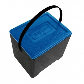 Contenitore isotermico PPE C/Coperchio Blu cm.41X32X40