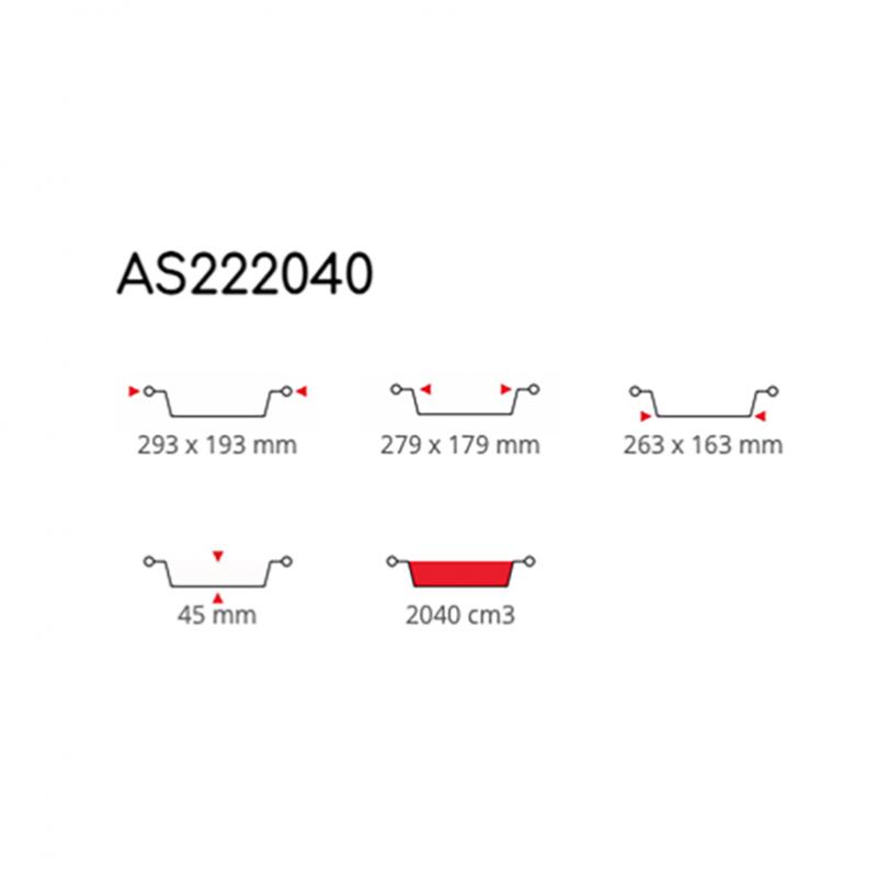 Contital Contenitori Eclipse Laccati 6 Porzioni AS222040 Pz. 50