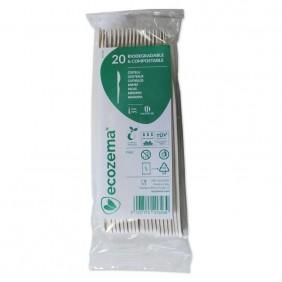 Coltello monouso - Biodegradabili e Compostabili in Mater-Bi® 166 mm